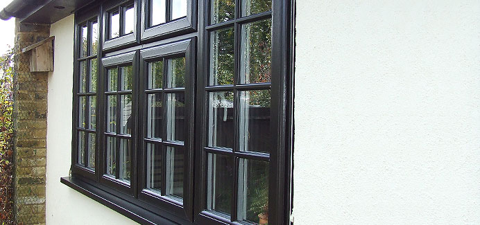 Black Georgian casement Windows Kent
