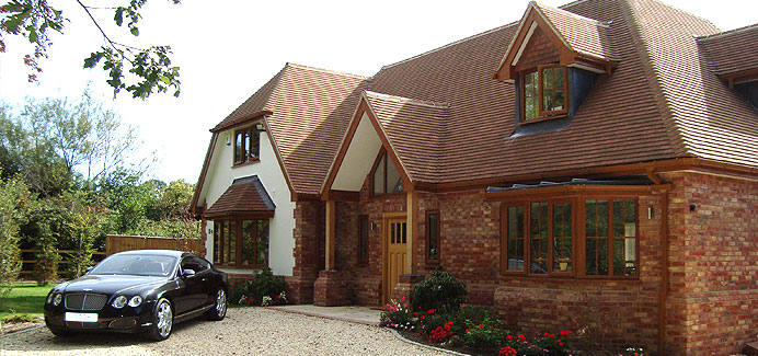 Golden Oak casement Windows